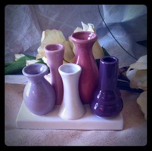 Vintage Cluster of Bud Vases